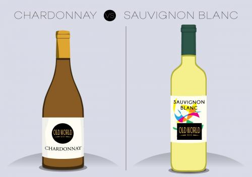 Sự khác biệt giữa rượu vang trắng Chardonnay và rượu vang trắng Sauvignon Blanc là gì?
